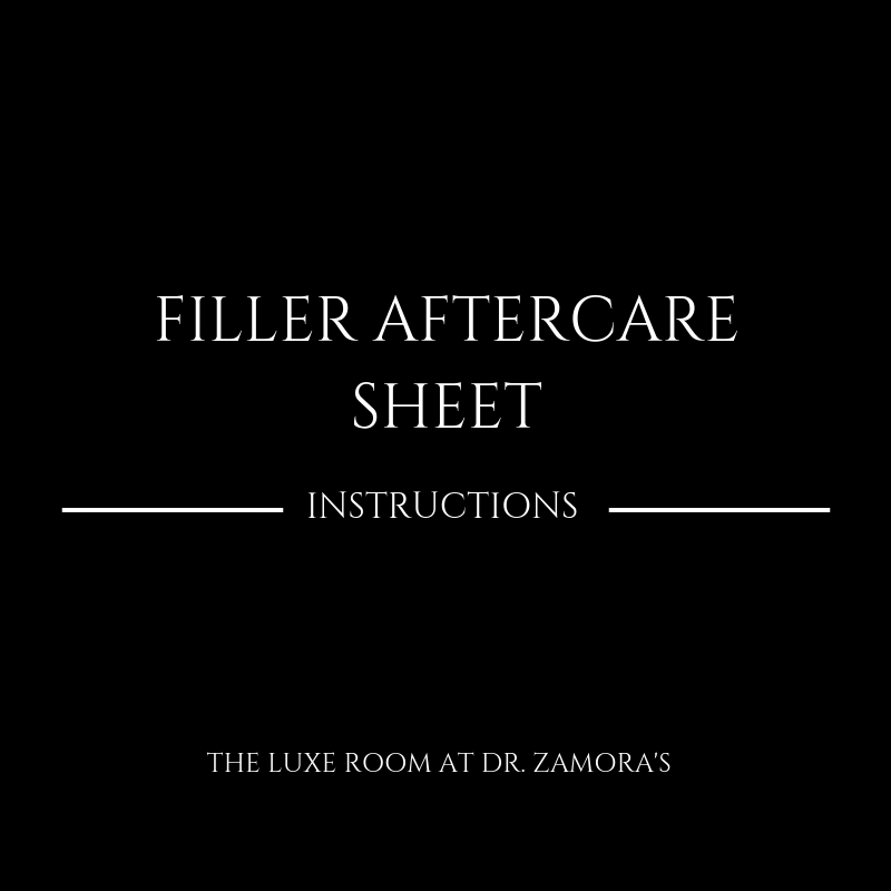 Filler Aftercare Sheet Denver